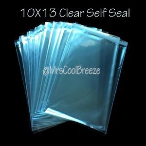 100 - 10X13 Crystal Clear Self Seal Cello Bags